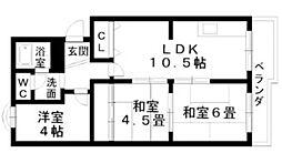 ボナール西井[5階]の間取り