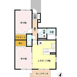 コートハウスV[1階]の間取り