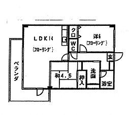 フォレスト柚須駅前[205号室]の間取り
