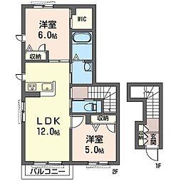茅ヶ崎市下町屋2丁目シャーメゾン(仮)[201号室]の間取り