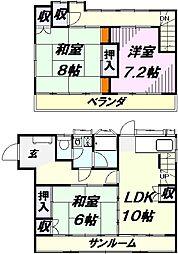 [一戸建] 埼玉県所沢市大字下安松 の賃貸【/】の間取り