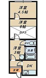 [一戸建] 大阪府堺市堺区東雲西町1丁 の賃貸【大阪府 / 堺市堺区】の間取り