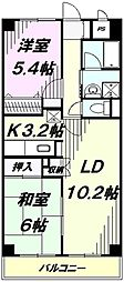 埼玉県所沢市大字荒幡の賃貸マンションの間取り