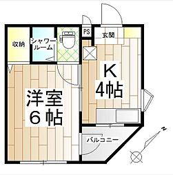 神奈川県横浜市緑区いぶき野の賃貸マンションの間取り