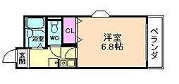 服部ハイツカワバタ[3階]の間取り