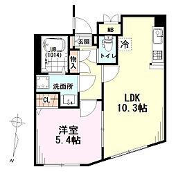 東京メトロ南北線 白金高輪駅 徒歩10分の賃貸マンション 3階1LDKの間取り