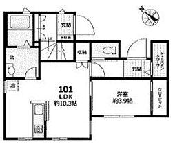都営三田線 白山駅 徒歩9分の賃貸アパート 1階1LDKの間取り