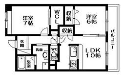サニングパレス[3階]の間取り