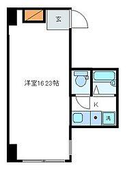 東京都中央区日本橋室町1丁目の賃貸マンションの間取り
