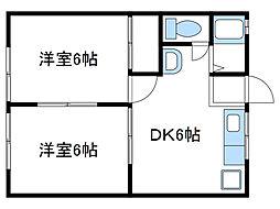 神奈川県海老名市中央2丁目の賃貸アパートの間取り
