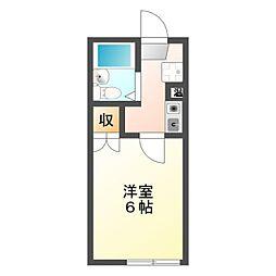 アパートメントハウス上島[1階]の間取り