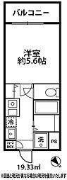 ドミール大倉山[302号室]の間取り