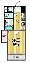 ラグゼ布施[9階]の間取り