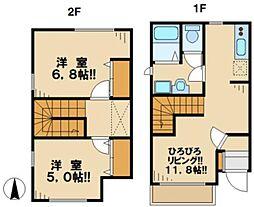 [テラスハウス] 東京都日野市平山5丁目 の賃貸【/】の間取り