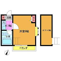 ローズアパート23番館[201号室]の間取り
