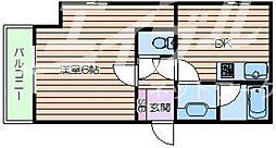 大阪府大阪市中央区難波千日前の賃貸マンションの間取り