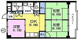 コーポローズ[2階]の間取り