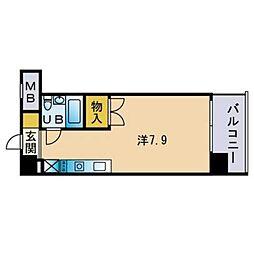 ダイナコート箱崎[404号室]の間取り