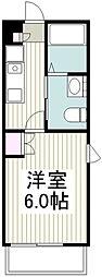 相鉄本線 西谷駅 徒歩20分の賃貸アパート 1階1Kの間取り