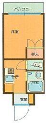 アメニティ友泉[305号室]の間取り