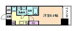 セレニテ福島シェルト 10階1Kの間取り
