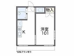 愛知県愛知郡東郷町兵庫2丁目の賃貸アパートの間取り