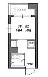 都営大江戸線 春日駅 徒歩3分の賃貸マンション 6階ワンルームの間取り
