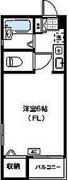 神奈川県川崎市宮前区土橋1丁目の賃貸アパートの間取り