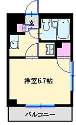 ヒルサイドビル3[1階]の間取り