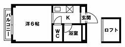 福岡県福岡市博多区麦野6丁目の賃貸マンションの間取り