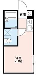 TEN-NOM HOUSE PREMIER 2階ワンルームの間取り