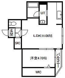 北海道札幌市中央区南六条西12の賃貸マンションの間取り