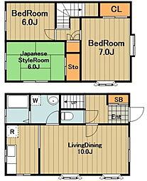 [テラスハウス] 神奈川県相模原市緑区東橋本4丁目 の賃貸【神奈川県 / 相模原市緑区】の間取り