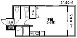 N‐ラヴィーヌ荒江[305号室]の間取り