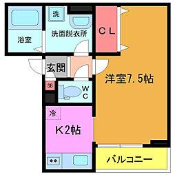 千葉県船橋市本町3丁目の賃貸アパートの間取り