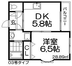 ピコットIII[4階]の間取り