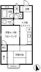 グリーンタウン武蔵野[1階]の間取り