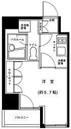 グランフォース五反田 3階1Kの間取り