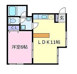 MライフパートII[1階]の間取り