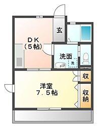 愛知県豊橋市小池町の賃貸アパートの間取り