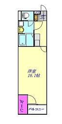 埼玉新都市交通 原市駅 徒歩25分の賃貸アパート 1階1Kの間取り