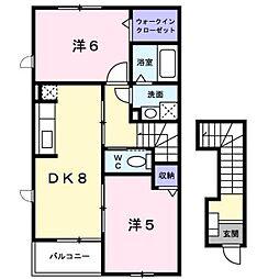 新潟県新潟市南区上曲通の賃貸アパートの間取り