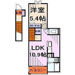 サニーレジデンス[2階]の間取り