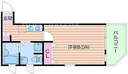セサンク太子橋[2階]の間取り