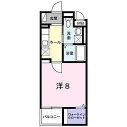 クレール壱番館[2階]の間取り