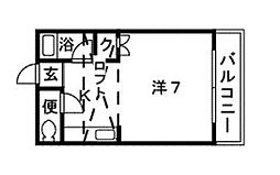 サンコーポ新宮[101号室]の間取り