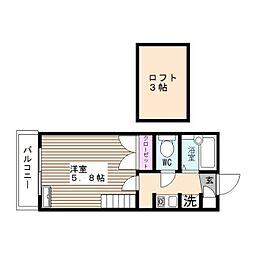 グラフィックメゾン樋井川[206号室]の間取り