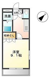 愛知県豊田市平戸橋町永和の賃貸マンションの間取り