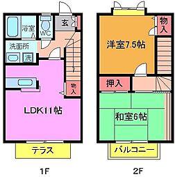 [テラスハウス] 千葉県市川市曽谷1丁目 の賃貸【/】の間取り