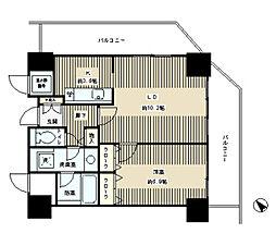 トレステージ目黒 14階1LDKの間取り